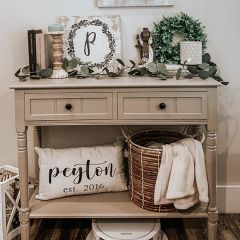 Country Charms 2 Drawer Console