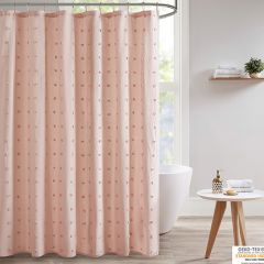 Chic Blush Pom Pom Shower Curtain