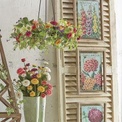 Framed Floral Seed Packet Print Set of 3