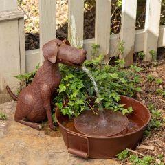 Rustic Dog Water Fountain