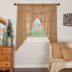 Burlap Prairie Curtain Set of 2