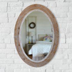 Rustic Farmhouse Oval Wall Mirror