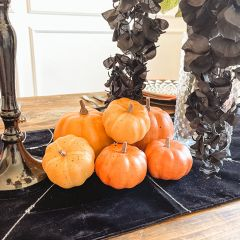 Bag of Faux Pumpkins 6 Piece