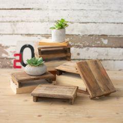 Repurposed Primitive Wood Display Riser