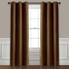 Mocha Room Darkening Curtain Panel Set of 2