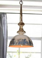 Antiqued Dome Pendant Light