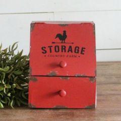 Farmhouse Counter Storage Bin With Drawer