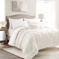 Pintuck Pale Bedding Set