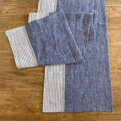 Linen With Stripes Table Runner
