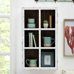 Antiqued Window Frame Wall Cabinet