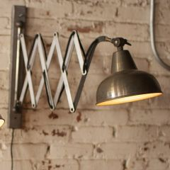 Industrial Accordion Wall Lamp