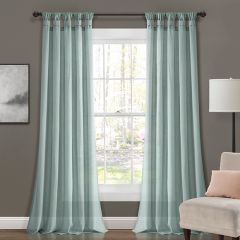 Burlap Knotted Solid Curtain Panel Set of 2