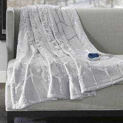 Heated Blanket With Metallic Accents