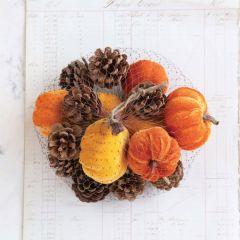 Autumn Harvest Pumpkins And Pinecones Assortment