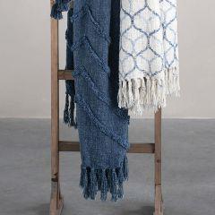 Fringed Stonewashed Throw Blanket