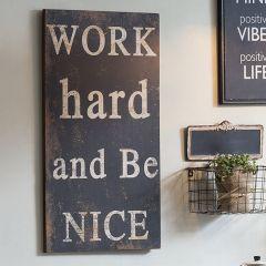 Work Hard and Be Nice Subway Sign