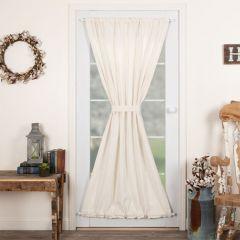 Simple Burlap Curtain Door Panel