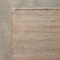 Hand Woven Wool And Jute Rug