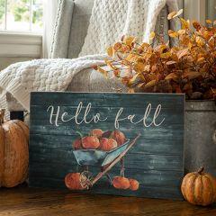 Hello Fall Wall Art Sign