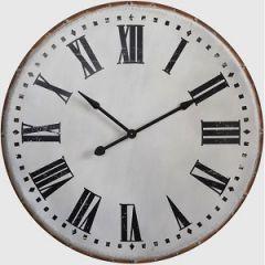 Large Round Metal Wall Clock