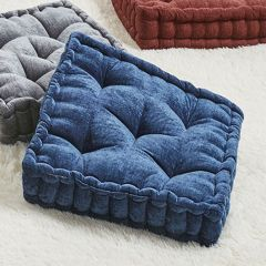 Chenille Square Floor Pillow