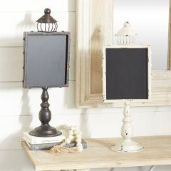 Tabletop Chalkboard Pedestal Set of 2