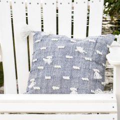 Woven Yarn Tasseled Accent Pillow