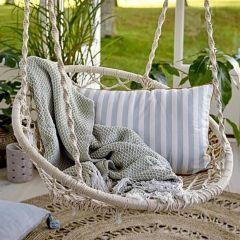 Handwoven Cotton Macramé Hanging Chair
