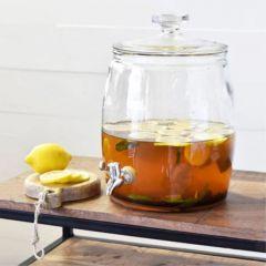 Glass Beverage Jar Dispenser