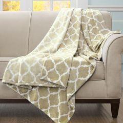 Ogee Print Throw Blanket