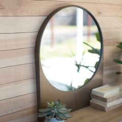 Round Wall Mirror With Rectangle Base