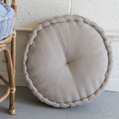 Round Ticking Stripe Pillow Floor Cushion