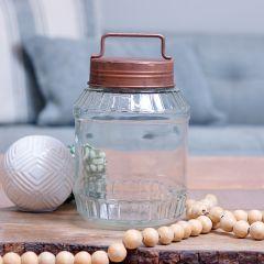 Glass Jar With Handled Lid