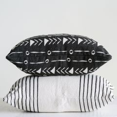 Mudcloth Style Cotton Pillow Set of 2