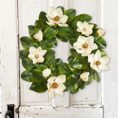Southern Charms Magnolia Wreath