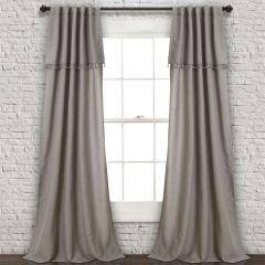 Elegant Tassel Curtain Panels Grey