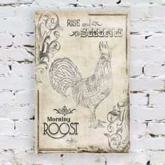 Rise and Shine Morning Roost Wall Decor