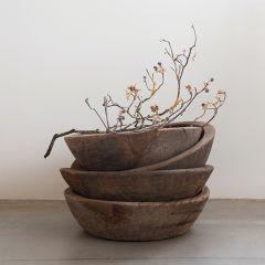 Decorative Found Teak Wood Bowl