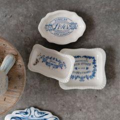 Inspirational Saying Stoneware Dish Collection Set of 3