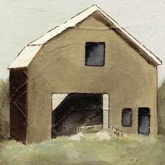 Abstract Brown Barn Canvas Wall Art