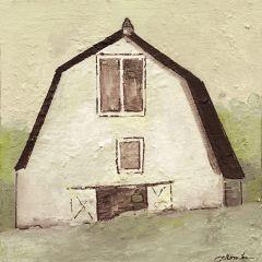 Abstract White Barn Canvas Wall Art