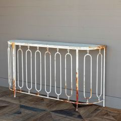 French Class Metal Console Table