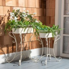 French Provencal Metal Planter Set of 2