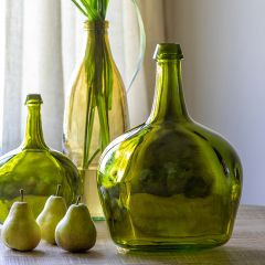 Glass Olive Bottle Vase