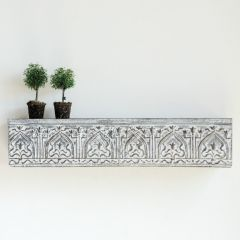 Metal Distressed Wall Shelf