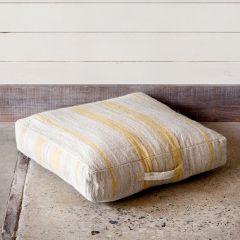 Stripe Pattern Linen Floor Cushion