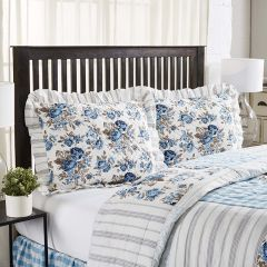 Floral With Ruffle Sham Set of 2 Standard