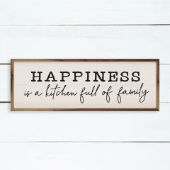 Happiness Is A Kitchen Full Of Family Wall Art