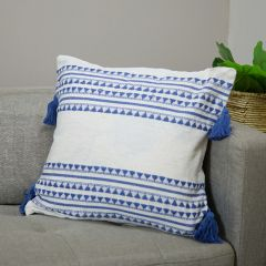 Pretty Pattern Tasseled Square Pillow Cover Set of 2