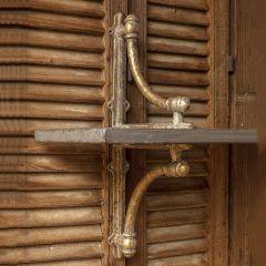 Aged Metal Decorative Shelf Brackets Set of 2